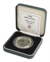 1998 Silver Proof Britannia Single With Certificate for sale